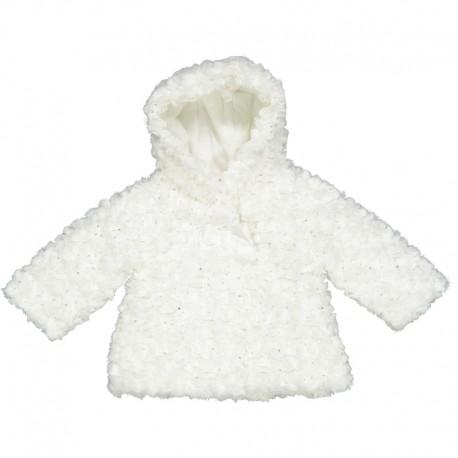 Kurtka futerko dziewczęca Birba 97006-91Z Biały