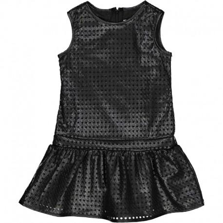 Sukienka ekoskóra dla dziewczynki Trybeyond 95584-91E Czarny