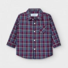 Koszula w kratkę chłopięca Mayoral 2130-86 granat