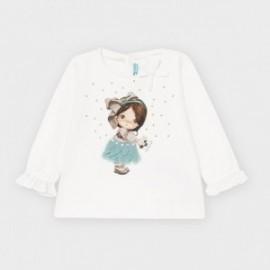 Koszulka z długim rękawem dziewczęca Mayoral 2054-49 Biały/turkus