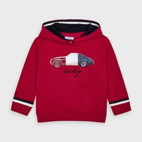 Bluza z kapturem chłopięca Mayoral 4461-43 Czerwony
