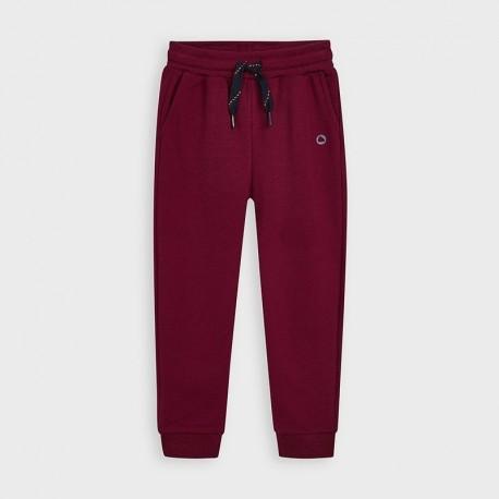 Długie spodnie dresowe chłopięce Mayoral 725-81 Bordowy
