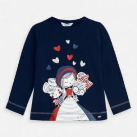 Koszulka z nadrukiem dziewczęca Mayoral 3019-58 Granatowy