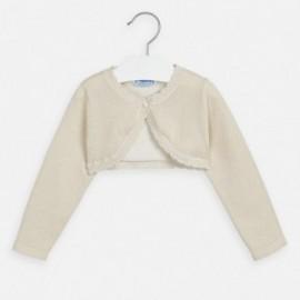 Sweter bolerko dziewczęcy Mayoral 320-78 Beżowy
