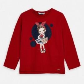 Koszulka z długim rękawem dziewczęca Mayoral 3021-80 Czerwony