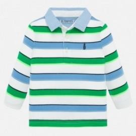 Koszulka polo w paski chłopięca Mayoral 1155-42 Zielony