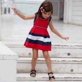 Sukienka w pasy dziewczęca Mayoral 3939-35 Czerwony