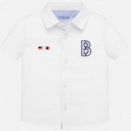 Koszula z krótkim rękawem chłopięca Mayoral 1160-86 Biały