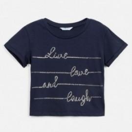 Koszulka z krótkim rękawem dziewczęca Mayoral 6019-40 Granatowy