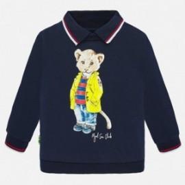 Bluza z kołnierzykiem chłopięca Mayoral 1451-77 Granatowy