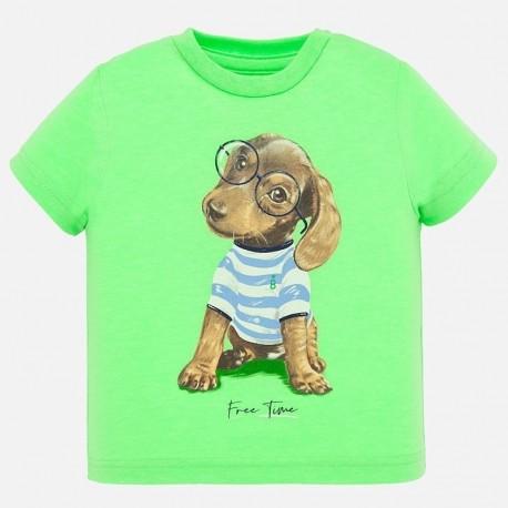 Koszulka bawełniana dla chłopców Mayoral 1046-22 Zielony