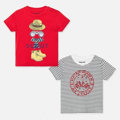Zestaw 2 koszulki dla chłopców Mayoral 1047-57 Czerwony