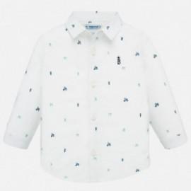 Koszula we wzory chłopięca Mayoral 1166-38 Biały