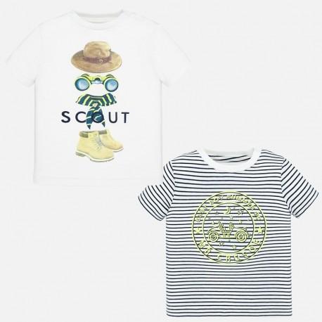Zestaw 2 koszulki dla chłopców Mayoral 1047-55 Biały