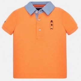 Koszulka polo dla chłopców Mayoral 1152-90 Pomarańcz neon