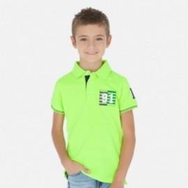Koszulka polo dla chłopaka Mayoral 6144-87 Zielony neon