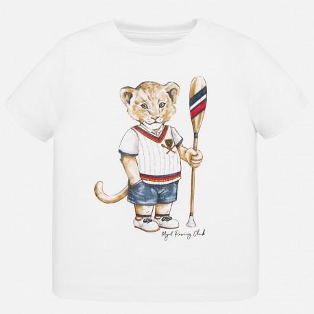 Koszulka bawełniana dla chłopców Mayoral 1046-21 Biały