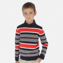 Sweter w paski chłopięcy Mayoral 6309-61 Czerwony