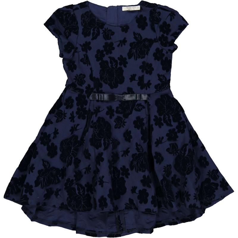 Sukienka w kwiaty dziewczęca Trybeyond 95592-97Z Granatowy