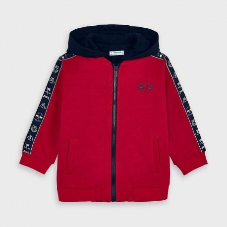 Bluza z kapturem dla chłopców Mayoral 4482-46 czerwona