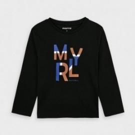 Koszulka z długim rękawem chłopięca Mayoral 173-57 czarna