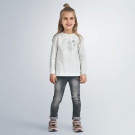 Spodnie jeansowe dziewczęce Mayoral 70-62 Szary