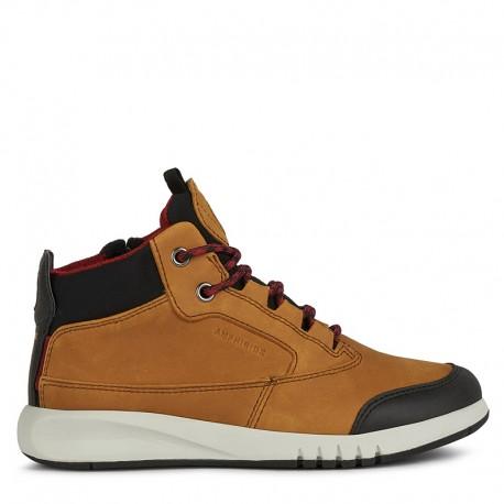 Sneakersy chłopięce Geox J04CYA-0CL11-C6361 musztardowe