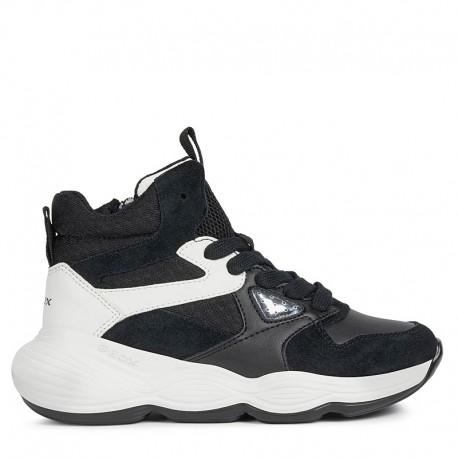 Sneakersy przejściowe chłopiece Geox J04CNA-05422-C0504 czarne