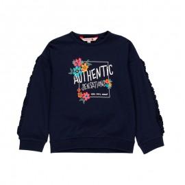 Bluza dla dziewczynki Boboli 431132-2440 kolor granat