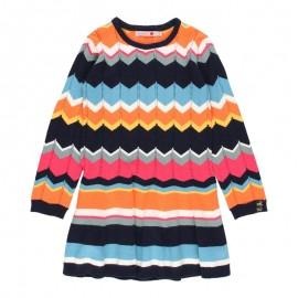 Sukienka dzianinowa dla dziewczynki Boboli 431097-2440 kolor granat