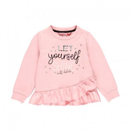 Bluza z falbanką dla dziewczynki Baby Boboli 241119-3691 kolor różowy