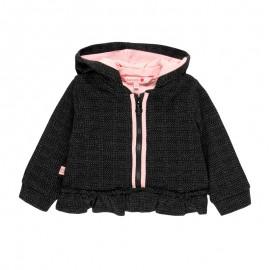 Bluza z kapturem dla dziewczynki Baby Boboli 241142-8116 kolor antracyt
