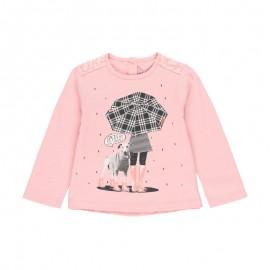 Koszulka z długim rękawem dla dziewczynki Baby Boboli 241018-3691 kolor różowy