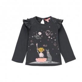 Koszulka z długim rękawem dla dziewczynki Baby Boboli 241131-8116 kolor antracyt