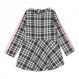 Sukienka w kratę dla dziewczynki Baby Boboli 241029-9417 kolor czarny