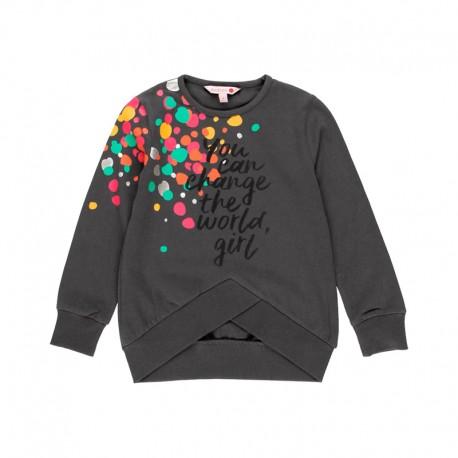 Bluza dla dziewczynki Boboli 411062-8116 kolor antracyt