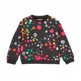 Bluza w kropki dla dziewczynki Boboli 411152-8116 kolor antracyt