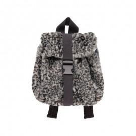 Plecak futrzany dziewczęcy Boboli 441010-9392 kolor szary