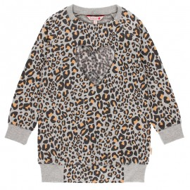 Sukienka w panterkę dla dziewczynki Boboli 441087-9392 kolor szary