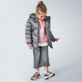 Kurtka pikowana dla dziewczynki Mayoral 4420-65 Szary