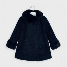 Płaszcz z sukna dla dziewczynki Mayoral 4411-52 Granatowy