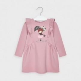Sukienka z haftem dziewczęca Mayoral 4982-37 Różowy