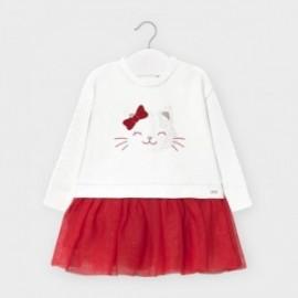 Sukienka łączona dziewczęca Mayoral 2970-33 Czerwony