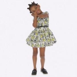 Sukienka z nadrukiem dziewczęca Mayoral 4928-51 kolor żółty