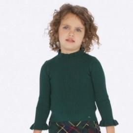 Sweter dzianinowy dziewczęcy Mayoral 4003-45 kolor zielony