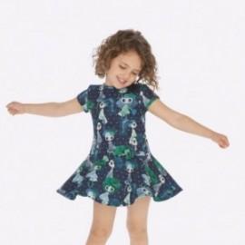 Sukienka z nadrukiem dziewczęca Mayoral 4938-75 kolor zielony