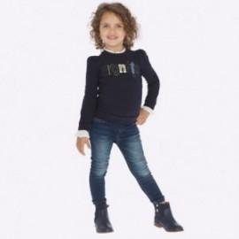 Spodnie jeansy dziewczęce Mayoral 70-56 kolor granatowy