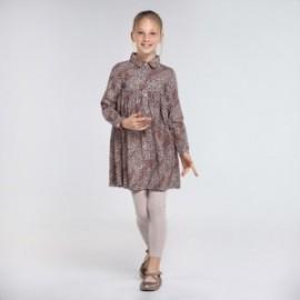 Sukienka w panterkę dziewczęca Mayoral 7971-3 kolor różowy