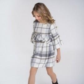 Sukienka w kratę dziewczęca Mayoral 7973-43 kolor szary