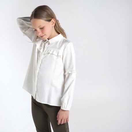 Bluzka elegancka dziewczęca Mayoral 7137-18 kolor biały